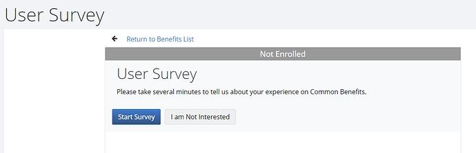 Survey - Enroll
