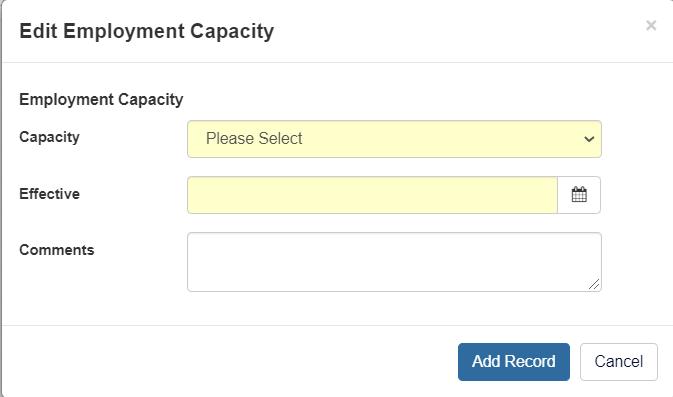 Edit Capacity